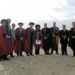 Bournemouth University graduation on the beach