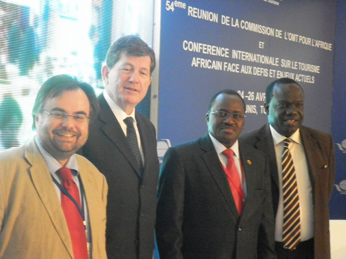 Buhalis Frédéric Pierret, UNWTO Executive Director, H.E. Mr. Baba Hama, Burkina Faso Tourism Minister and Ousmane NDiaye UNWTO