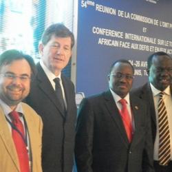 Buhalis Frédéric Pierret, UNWTO Executive Director, H.E. Mr. Baba Hama, Burkina Faso Tourism Minister and Ousmane NDiaye UNWTO